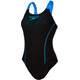 speedo Gala Logo Medalist Swimsuit Women blue/black